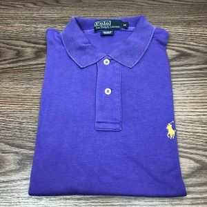 Polo Ralph Lauren Solid Purple Polo Shirt M
